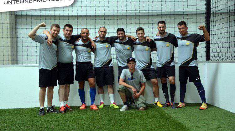 ibeko soccer Team auf dem Unternehmenscup in München 1