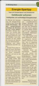 ibeko-solar im rimstinger Gemeindeblatt 1